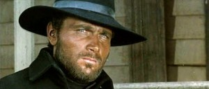 Franco Nero as Tom Corbett in Massacre Time (1966).