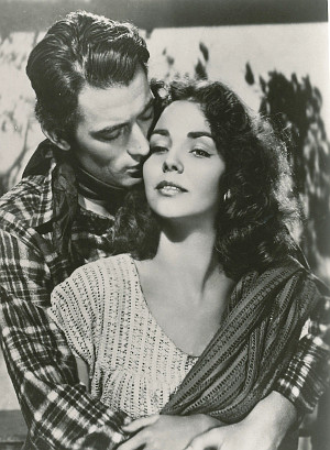 "Gregory Peck as Lewton McCanles and Jennifer Jones as Pearl Chavez in ""Duel in the Sun"" (1946)"