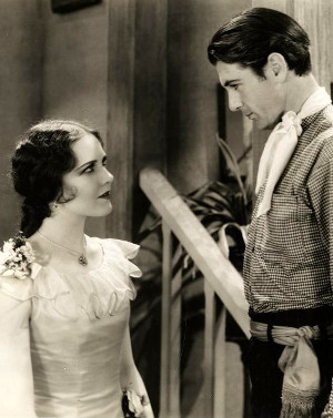 "Mary Brian as Molly Wood and Gary Cooper as The Virginian in"" The Virginian"" (1929)"