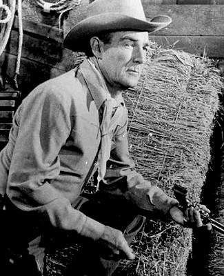 Randolph Scott as Bart Allison in Decision at Sundown (1957)