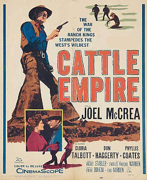 Cattle Empire (1958) poster