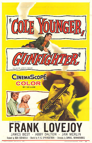 Cole Younger, Gunfighter (1958) poster