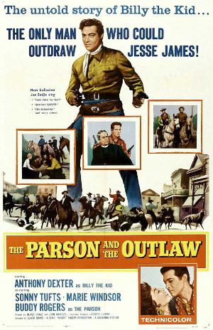 The Parson and the Outlaw (1957) poster