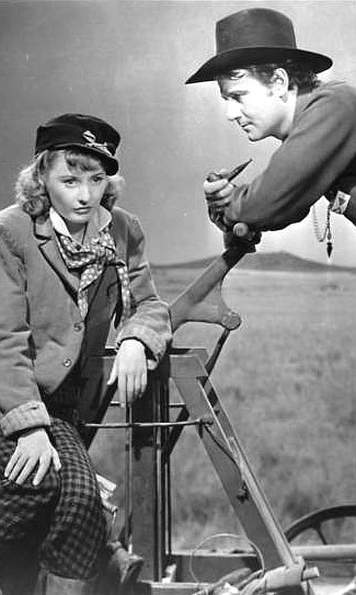 Barbara Stanwyck as Mollie Monahan and Joel McCrea as Jeff Butler in Union Pacific (1939)