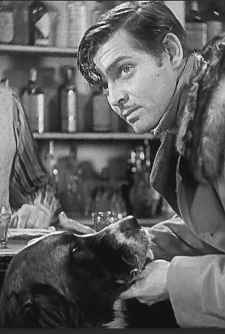 Clark Gable as Jack Thornton with Buck in Call of the Wild (1935)