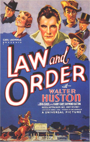 Law and Order (1932) poster