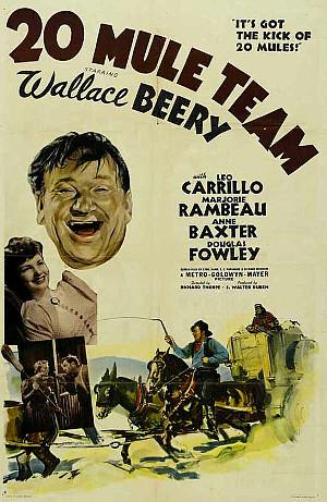 20 Mule Team (1940) poster