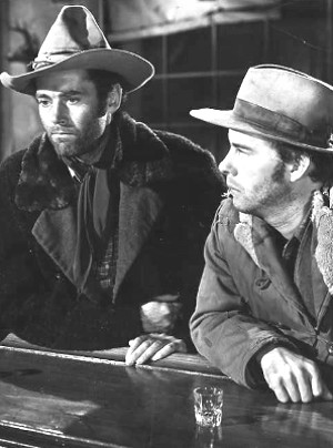 Henry Fonda as Gil Carter and Harry Morgan as Art Croft in The Ox-Bow Incident (1943)