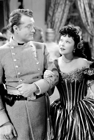 Red Skelton as Aubrey Filmore dancing with Joyce Compton as Hortense Dobson in A Southern Yankee (1948)