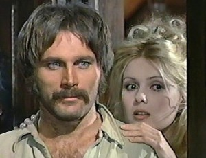 Franco Nero as Johnny Ears with Pamela Tiffin as Susie in Deaf Smith and Johnny Ears (1973)
