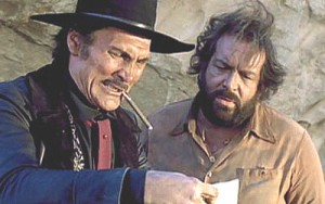 Jack Palance as Sonny Bronston and Bud Spencer as Hiram Coburn in It Can Be Done Amigo (1972)