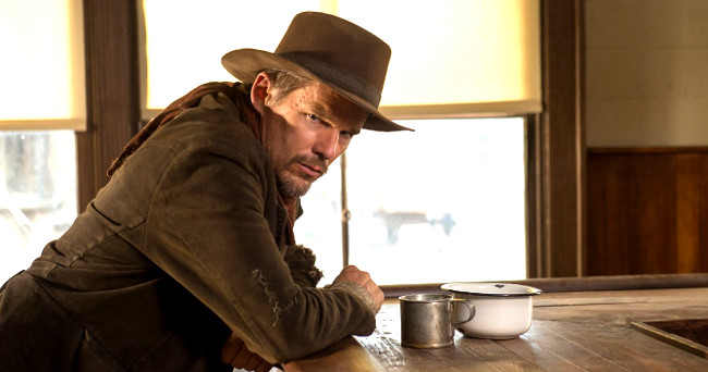 Ethan Hawke as Paul in In the Valley of Violence (2016)