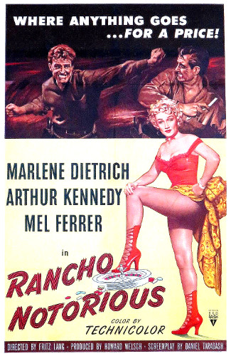 Rancho Notorious (1952) poster