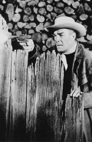 Randolph Scott as James Barlow in Rage at Dawn (1955)