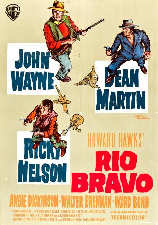 Rio Bravo (1959) poster