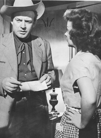 Arthur Kennedy as Wes Merritt with Susan Hayward as Louis Merritt in The Lusty Men (1952)
