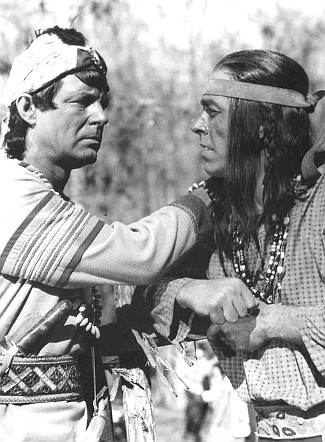 James Craig as Cheief Osceola and Dennis Cross as Coacoochee in Naked in the Sun (1957)
