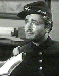 John Derek as Lt. Norman Tucker in Massacre at Sand Creek (1956)