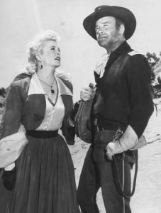 Marilyn Maxwell as Cherry with Lew Ayres as Capt. Hunt in New Mexico (1951)