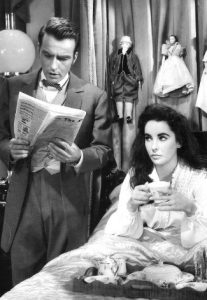 Montgomery Clift as John Shawnessy with Elizabeth Taylor as Susanna Drake in Raintree County (1957)