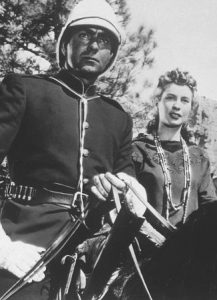 Tyrone Power as Duncan MacDonald and Penny Edwards as Emerald Neeley in Pony Soldier (1952)