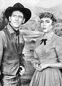 Earle Lyon as Gregg Leech and Marie Windsor as Karen Childress in The Silver Star (1955)