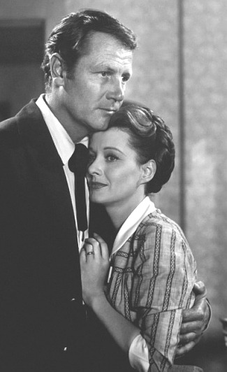 Joel McCrea as Josiah Grey and Ellen Drew as Harriet Grey in Stars in My Crown (1950)