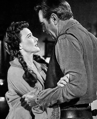 Phyllis Thaxter as Erin Kearney with Gary Cooper as Maj. Lex Kearney in Springfield Rifle (1952)
