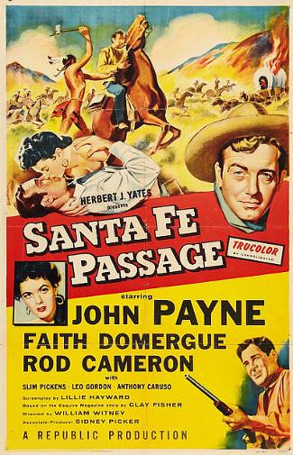 Sante Fe Passage (1955) poster