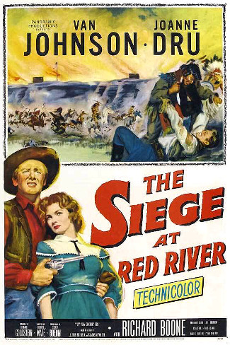 The Siege at Red River (1954) poster