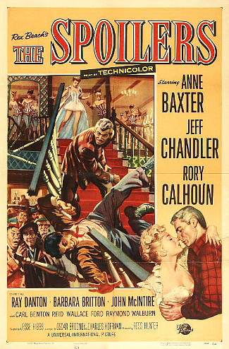 The Spoilers (1956) poster