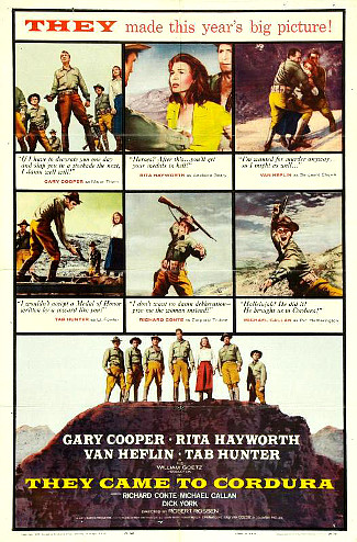 They Came to Cordura (1959) poster