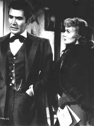 Gene Barry as Johnny Kisco and Rhonda Fleming as Kathie Edmonds in Those Redheads from Seattle (1953)