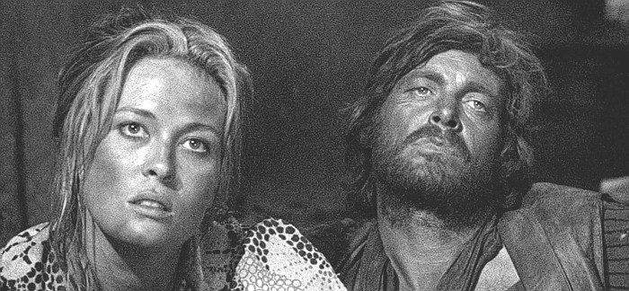 Faye Dunaway as Katie Elder and Michael Whitney as Ike Clanton in Doc (1971)