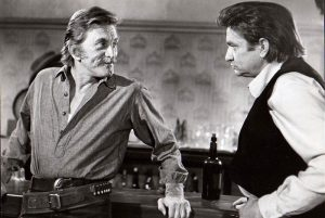 Kirk Douglas as Will Tenneray and Johnny Cash as Abe Cross in A Gunfight (1971)