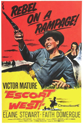 Escort West (1959) poster