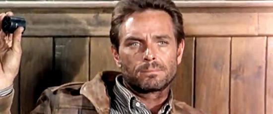 Craig Hill as bounty man Hank (Lanky) Fellows in For the Taste of Killing (1966)
