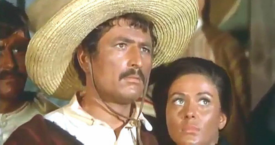 Glauco Onorato (Richard Stark) as Jose Perera and Gloria Osuna as Carmen Perera in The Magnificent Texan (1967)