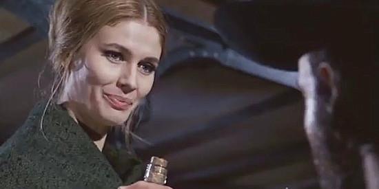 Ida Galli (Evelyn Stewart) as Lisa Flanagan in The Man Who Cried for Revenge (1969)