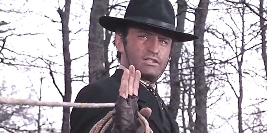 Jean Louis as the bounty hunter in The Man Who Cried for Revenge (1969)