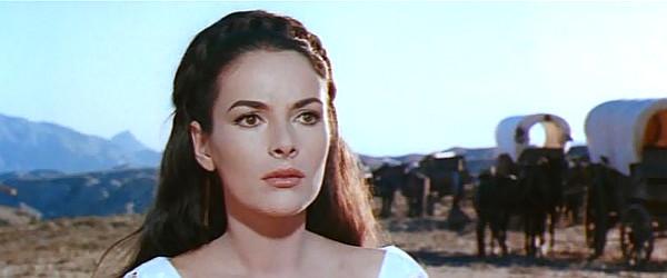 Karin Dor as Cora Munroe in The Last Tomahawk (1965)