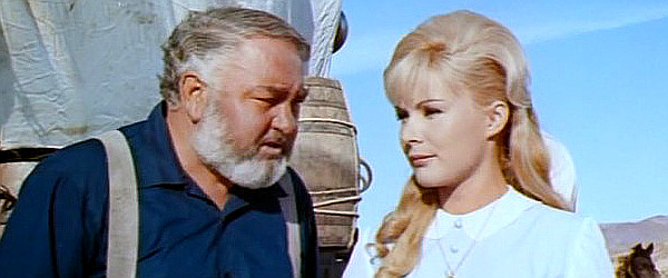 Kurt Grosskurth as the cook and Marie France as Alice Munroe in The Last Tomahawk (1965)