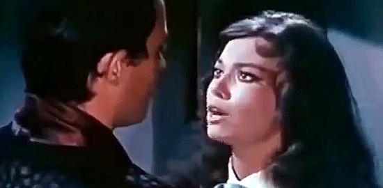 Luciana Gilli as Louise O'Brien with Angel del Pozo as George Benson in My Gun is the Law (1965)