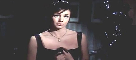 Maria Pia Conte as Jane Randall, the mayor's widow in If You Meet Sartana Pray for Your Death (1969)