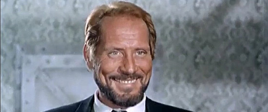 Piero Lulli (Peter Carter) as Collins, the mine owner, in For the Taste of Killing (1966)