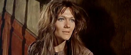 Rada Rassimov as Isabelle, Gus Kennebeck's lover, in For the Taste of Killing (1966)