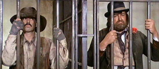 Tomas Milian as Provvidenza and Gregg Palmer as The Hurricane Kid in Life is Tough, Eh Providence (1972)