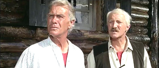 George Rigaud as Alastair MacGregor and Harry Cotton as Harold MacGregor in Seven Guns for the MacGregors (1967)