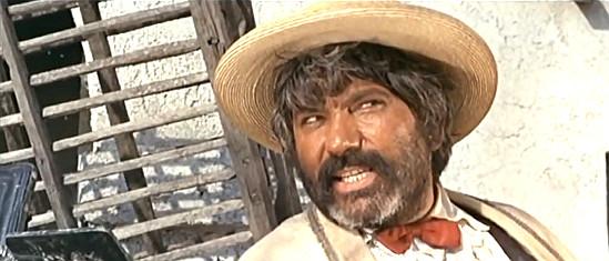 Ignazio Spalla (Pedro Sanchez) as Barrica, Django's helper, in Don't Wait, Django, Shoot! (1967)
