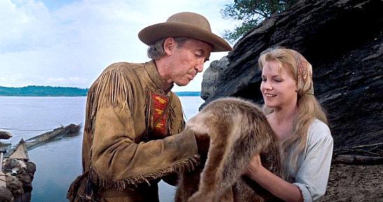 James Stewart as Linus Rawlings with Carroll Baker as Eve Prescott ...